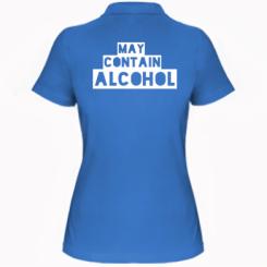 Жіноча футболка поло May contain alcohol