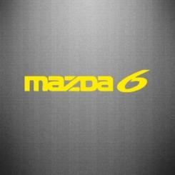 Купити Наклейка Mazda 6