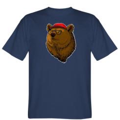 Футболка Ведмідь Хіпстер