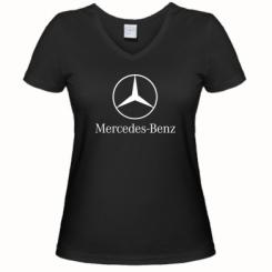 Купити Жіноча футболка з V-подібним вирізом Mercedes Benz