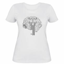 Жіноча футболка Мікросхема Мозок