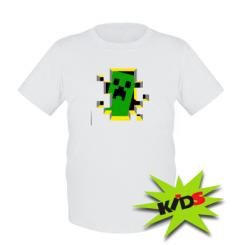 Детская футболка Minecraft 3D