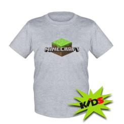 Детская футболка Minecraft Land