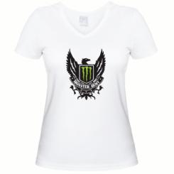 Купити Жіноча футболка з V-подібним вирізом Monster Army