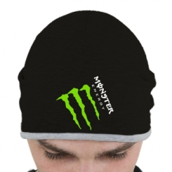 Шапка Monster Energy под наклоном