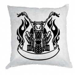 Подушка Мотоцикл у вогні