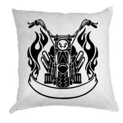 Подушка Мотоцикл в огне