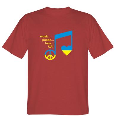 Футболка Music, peace, love UA