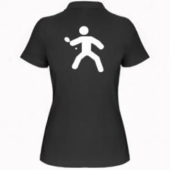 Жіноча футболка поло Настільний теніс