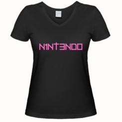 Купити Жіноча футболка з V-подібним вирізом Nintendo