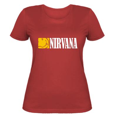 Купити Жіноча футболка Nirvana смайл