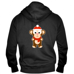 Купити Чоловіча толстовка на блискавці Новорічна мавпочка d7eab5e350231