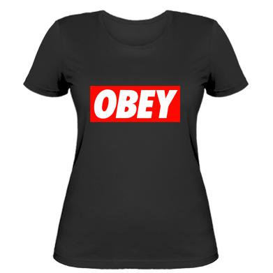 Женская футболка Obey