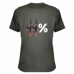 Камуфляжна футболка Одинадцять відсотків АК-47
