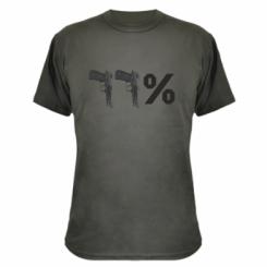 Камуфляжна футболка Одинадцять відсотків пістолети
