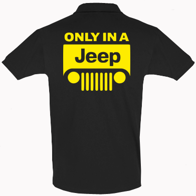 Футболка Поло Only in a Jeep