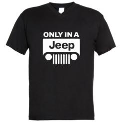 Купити Чоловічі футболки з V-подібним вирізом Only in a Jeep