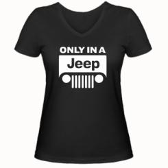 Купити Жіноча футболка з V-подібним вирізом Only in a Jeep