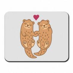 Килимок для миші Otters in love