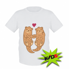 Дитяча футболка Otters in love
