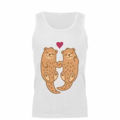 Майка чоловіча Otters in love
