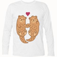 Футболка з довгим рукавом Otters in love