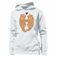 Толстовка жіноча Otters in love