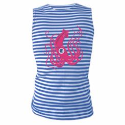 Майка-тільняшка Pink octopus