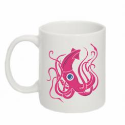 Кружка 320ml Pink octopus