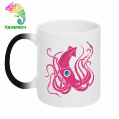 Кружка-хамелеон Pink octopus