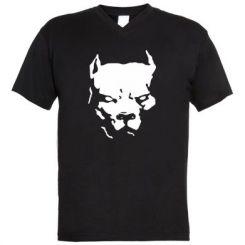 Чоловічі футболки з V-подібним вирізом Питбуль