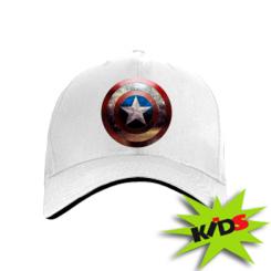 Дитяча кепка Потрісканий щит Капітана Америка