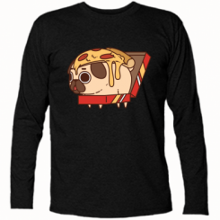 Футболка з довгим рукавом Pug and pizza