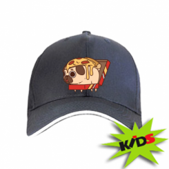 Дитяча кепка Pug and pizza