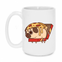 Кружка 420ml Pug and pizza