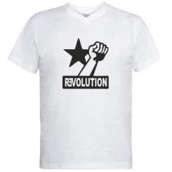 Купити Чоловічі футболки з V-подібним вирізом Revolution