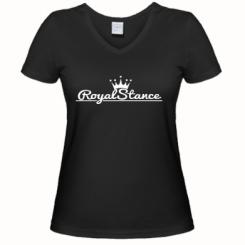 Купити Жіноча футболка з V-подібним вирізом Royal Stance