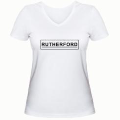 Жіноча футболка з V-подібним вирізом Rutherford
