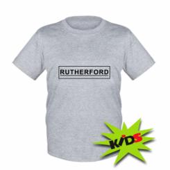 Дитяча футболка Rutherford