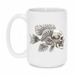 Кружка 420ml Риба-череп