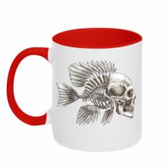 Кружка двокольорова Риба-череп