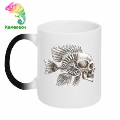 Кружка-хамелеон Риба-череп