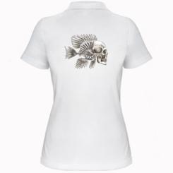 Жіноча футболка поло Риба-череп