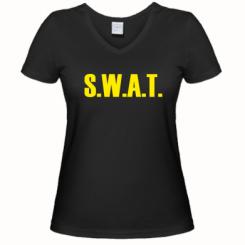 Купити Жіноча футболка з V-подібним вирізом S.W.A.T.
