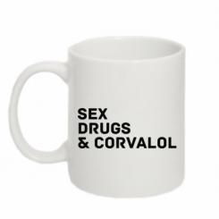 Кружка 320ml Sex, Drugs & Corvalol