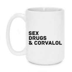 Кружка 420ml Sex, Drugs & Corvalol
