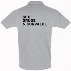 Футболка Поло Sex, Drugs & Corvalol