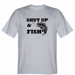 Футболка Shut up and fish