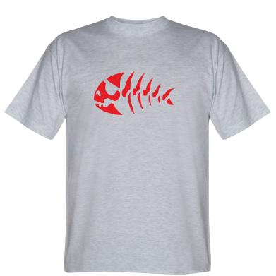 Футболка скелет рибки