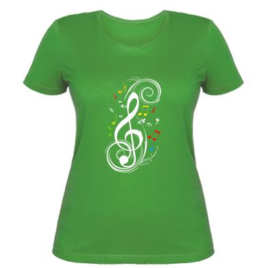 Купити Жіноча футболка Скрипковий ключ